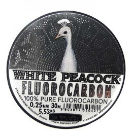 Леска флюорокарбон Balsax White Peacock 30м 0.25м