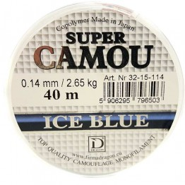 Леска зимняя Dragon Super Camou Ice Blue 40m 0.10-0.22 mm