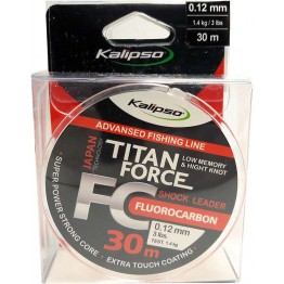 Леска флюорокарбон Kalipso Titan Force 30м 0.12мм