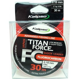 Леска флюорокарбон Kalipso Titan Force 30м 0.18мм