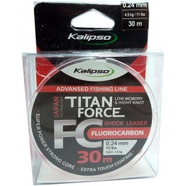 Леска флюорокарбон Kalipso Titan Force 30м 0.24мм