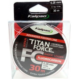 Леска флюорокарбон Kalipso Titan Force 30м 0.28мм