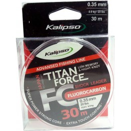 Леска флюорокарбон Kalipso Titan Force 50м 0.40мм
