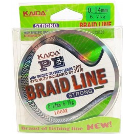 Шнур Kaida (Weida) Braid Line PE Strong 100м (0.10 - 0.40 мм) зеленый