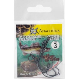 Крючки Anaconda 10025 Big Bait № 3 (7 шт)