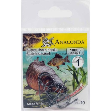 Крючки Anaconda 10006 Iseama № 1 (10 шт)