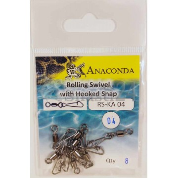 Карабины Anaconda RS-KA 04-04 Hook (8шт)
