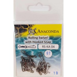 Карабины Anaconda RS-KA 04-07 Hook (10шт)