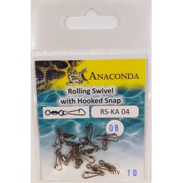Карабины Anaconda RS-KA 04-08 Hook (10шт)