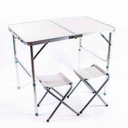 Комплект мебели алюминий-пластик (стол и 2 стула)